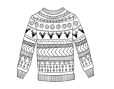 Printed wool sweater coloring page