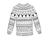 Dibujo de Printed wool sweater