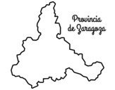 Province of Zaragoza coloring page