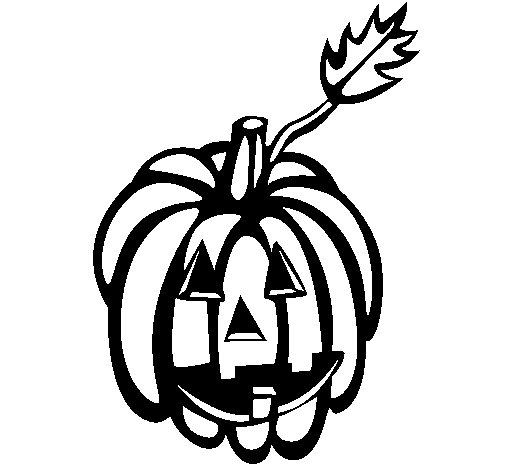 Pumpkin III coloring page