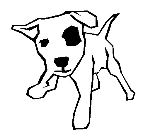 Puppy With A Spot Over Its Eye Coloring Page