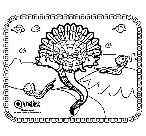 Quetz coloring page