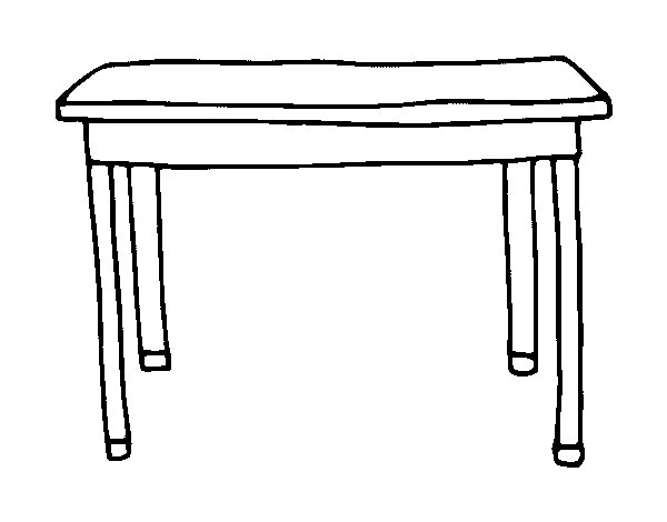 tables coloring pages - photo #4