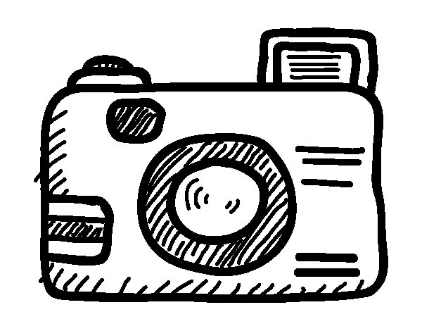 Reflex camera coloring page Coloringcrewcom