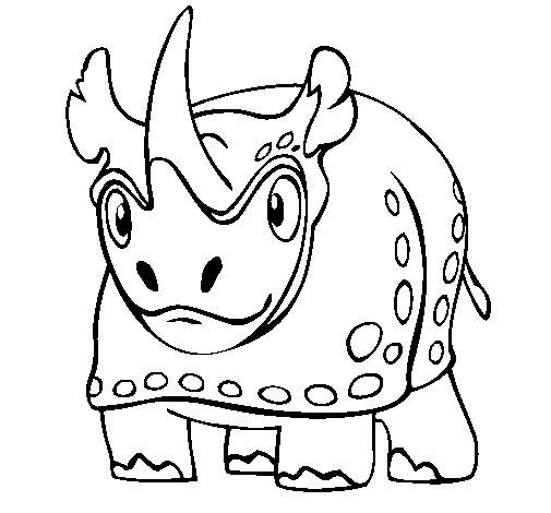 Rhinoceros 4 coloring page