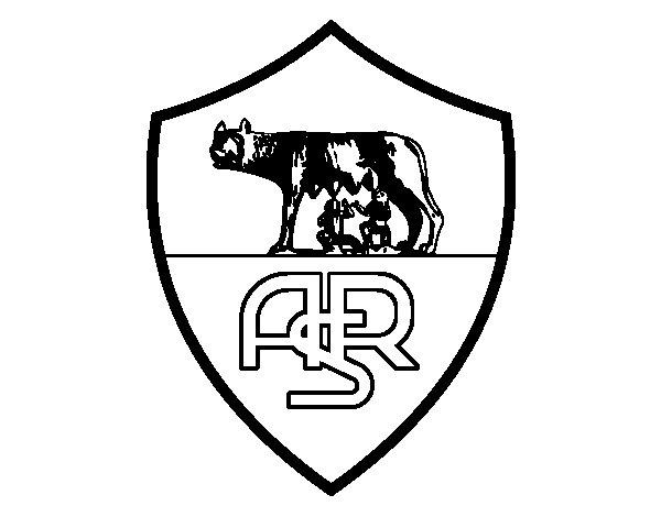 Roma crest coloring page