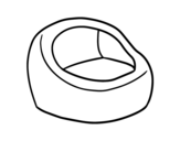 Round armchair coloring page