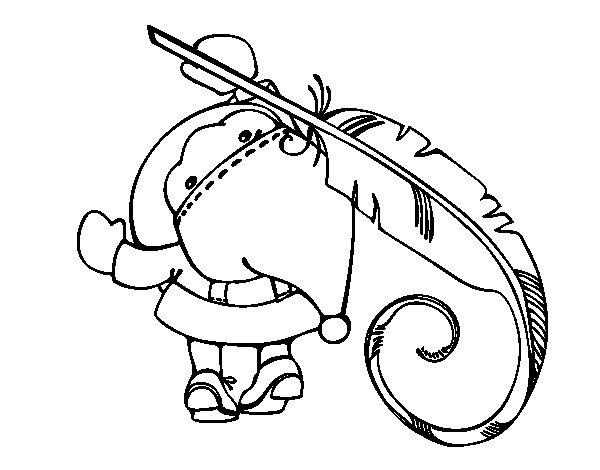 Santa Claus writing coloring page