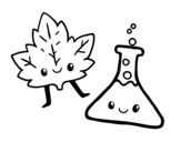 Science course coloring page