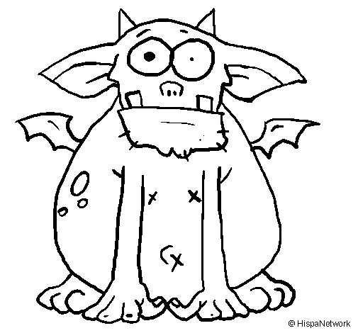Ugly Monster Coloring Pages Coloring
