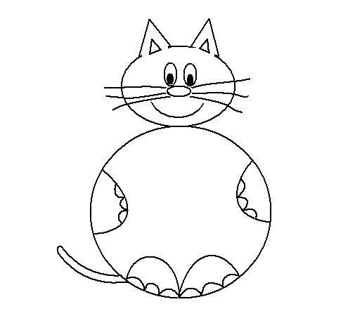 Selene Cat coloring page