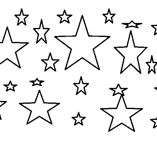 Set of stars coloring page