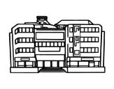 Shopping mall coloring page