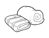 Shower towels coloring page