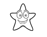 Smiling starfish coloring page