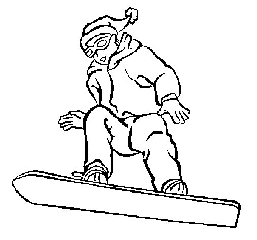 Snowboard coloring page