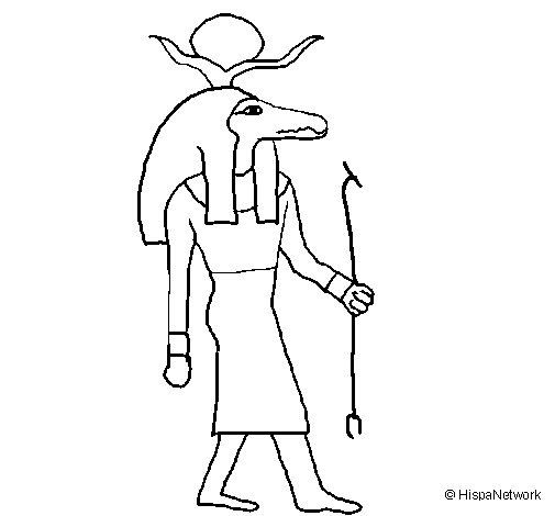 Sobek II coloring page