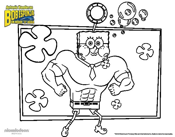 SpongeBob - The Invincibubble coloring page