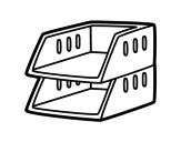Dibujo de Stackable trays
