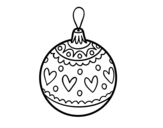 Stamped Christmas bauble coloring page