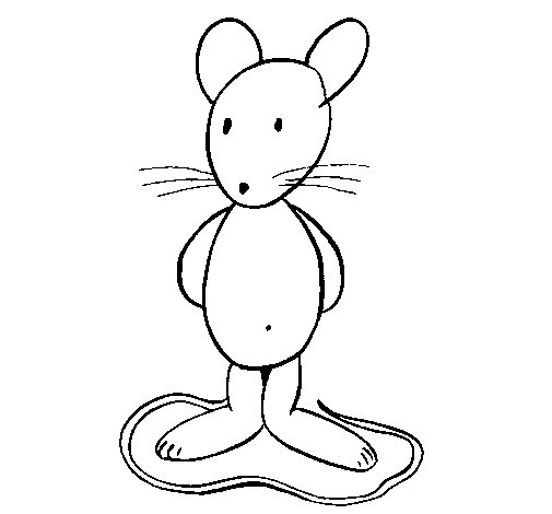 Standing rat coloring page