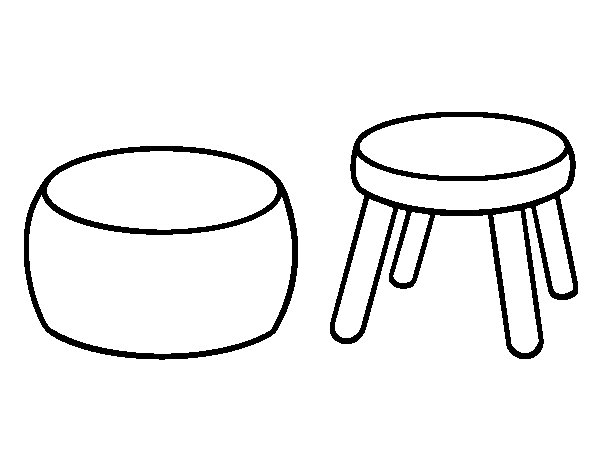 Stools coloring page