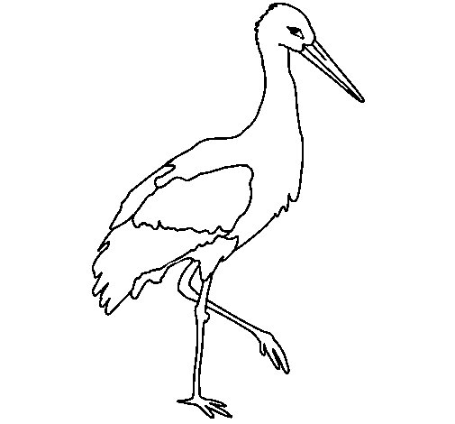 Stork 1 coloring page