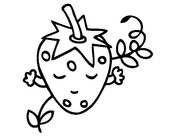 Strawberry thinking coloring page