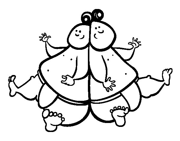 Sumo wrestlers coloring page