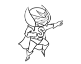 Super S coloring page