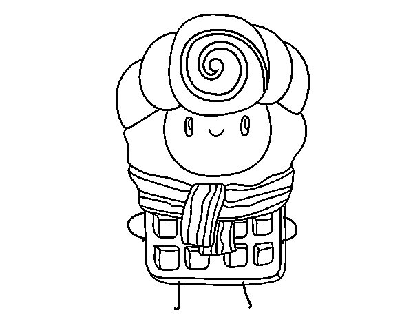 Super waffle coloring page