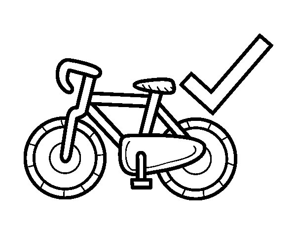 Sustainable transport coloring page