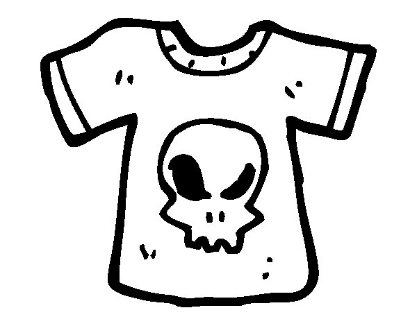 t shirt emo coloring page