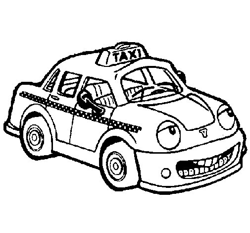 Taxi Herbie coloring page - Coloringcrew.com