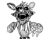Terrifying Foxy from Five Nights at Freddy's coloring page