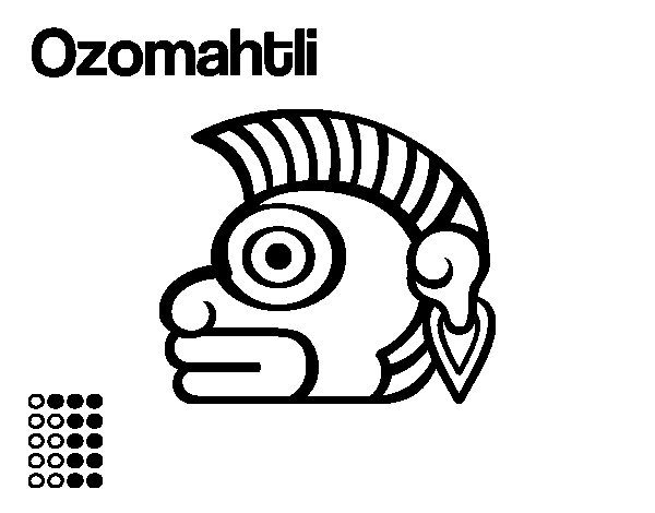 The Aztecs days: the Monkey Ozomatli coloring page