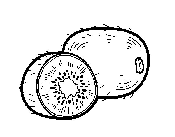 The kiwi coloring page