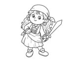 The pirate girl coloring page