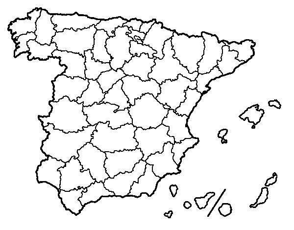 The provinces of Spain coloring page Coloringcrewcom
