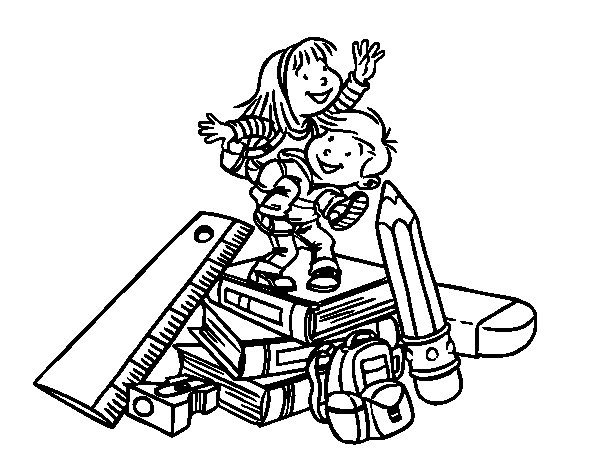 The school coloring page