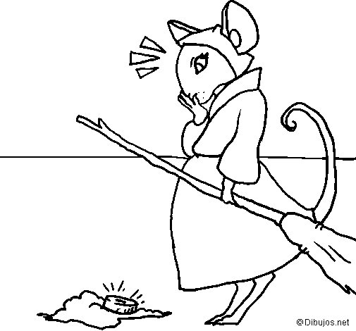 The vain little mouse 2 coloring page