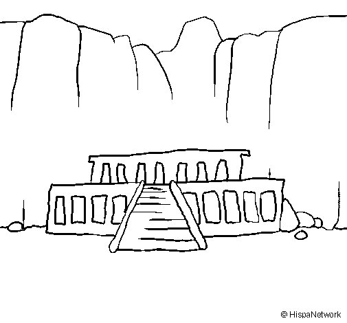The Valley of the Kings coloring page