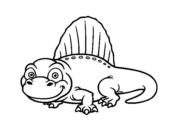 Theropod dinosaur coloring page