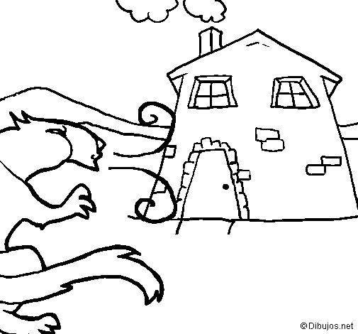 Three little pigs 11 coloring page