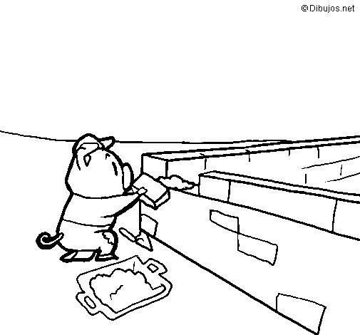 Three little pigs 4 coloring page