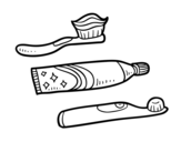 Toothbrushes coloring page