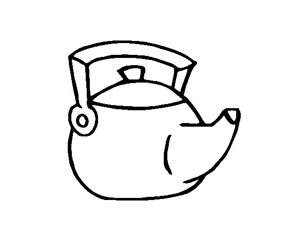 Traditional Kettle Coloring Page
