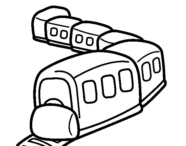 Train on the way coloring page