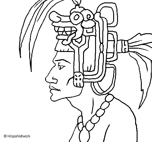 Tribal chief coloring page