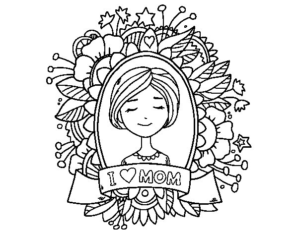 Tribute to all mothers coloring page
